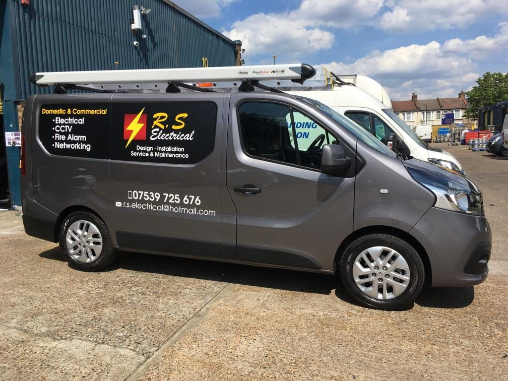 RS Electrical Grey Van with Van Stickers