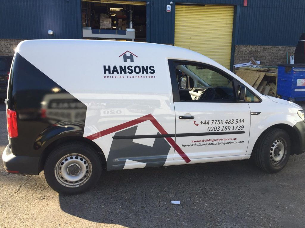 Hansons Building Contractors - Van graphics