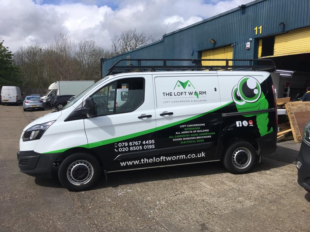 The loft Worm with half van wrapping Vinyl