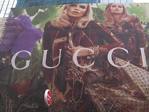 Gucci Banner Building - MESH material