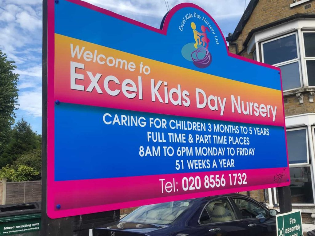 Nursery Sign Board - Colorfull Signs in London