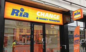 Ria Money Transfer - Illuminated Shop Signs