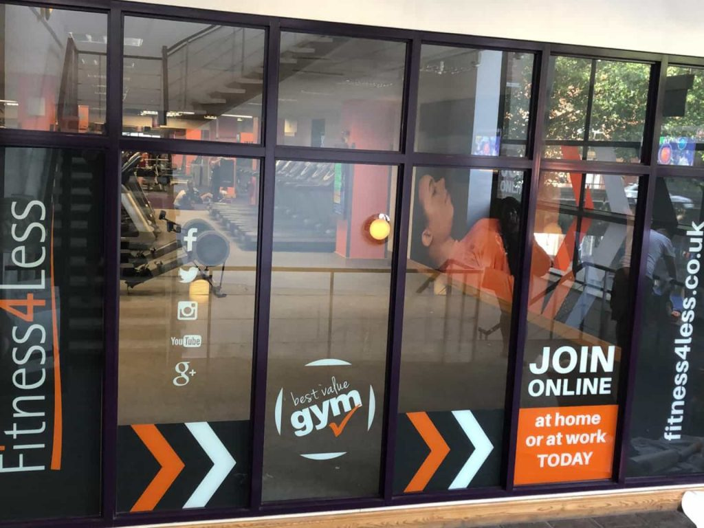 Front Gym Window Graphics - Join Today