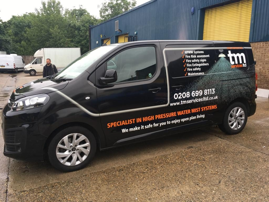 TM Plumber Van Car Wrapping in London